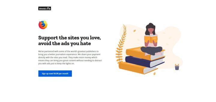 Mozilla Ad-Free News Subscription Service