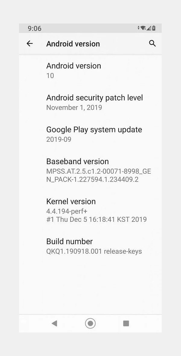 LG G7 One - Android 10 Update Details