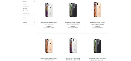 Refurbished Apple iPhone XS & iPhone XS Max