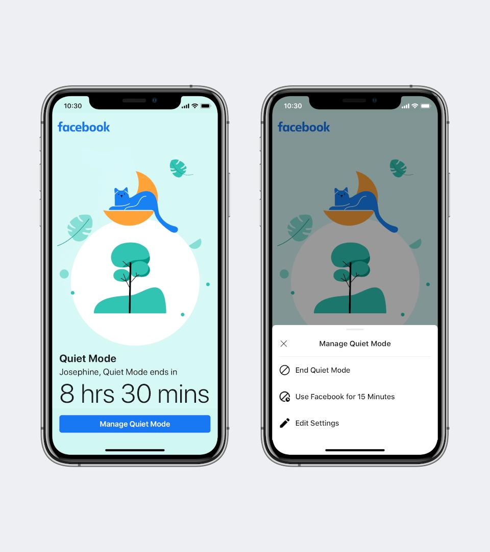 Facebook Quiet Mode - Disable or Bypass the feature for 15 minutes