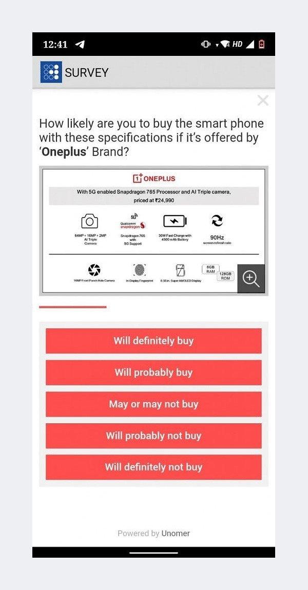 OnePlus Z - Payback Survey